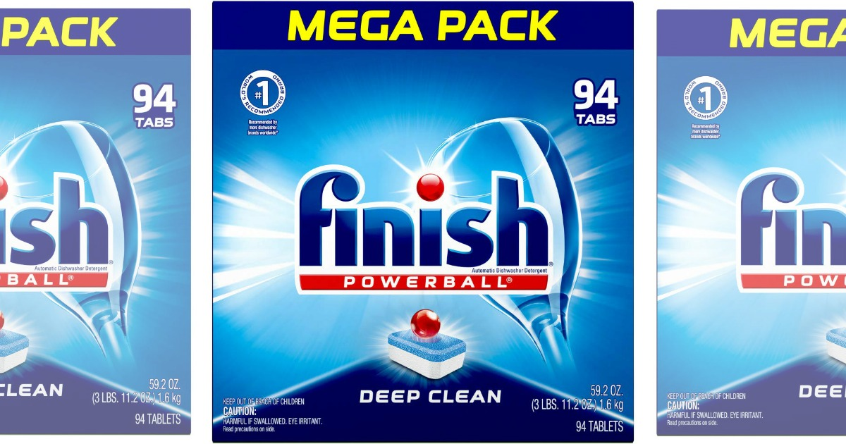 94-Count Box of Finish All in 1 Powerball Dishwashing Tabs