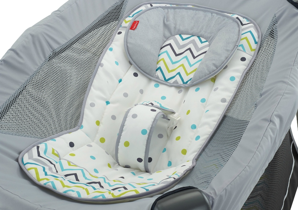 chevron polka dot Fisher-Price inclined sleeper accessory