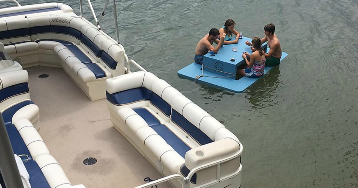 Save On This Durable Floating Picnic Table At Sam S Club