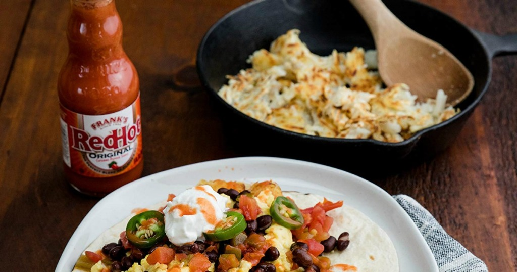 Frank's Red Hot sauce and tacos