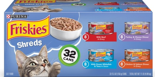 Purina Friskies Wet Cat Food 32-Count Pack Only $13 Shipped (Just 41¢ Each)