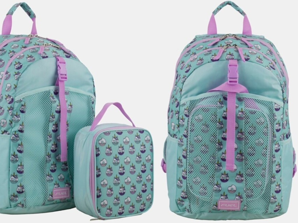 """picture of Fuel Unicorn Donut Backpack/Lunch Bag Set With 15"""" Laptop Pocket"""