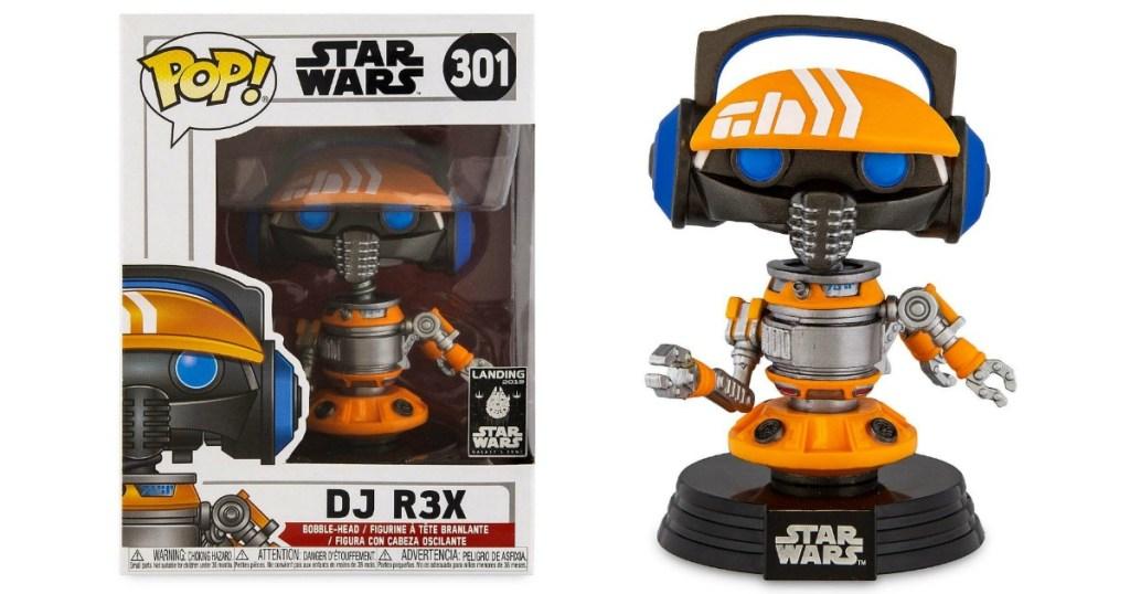 Funko Pop! Star Wars: Galaxy's Edge DJ R3X Bobble-Head Figure and the box