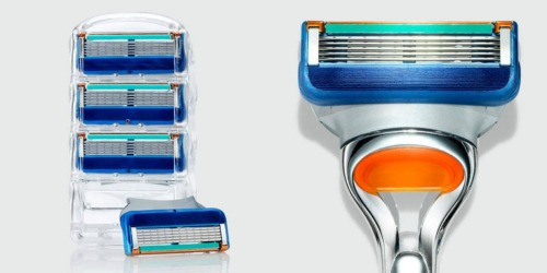 Gillette Fusion Men's Razor Blade Refills 4-Count Only $6.60 (Regularly $17)