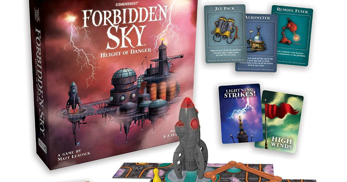 gamewright forbidden sky game box and contents