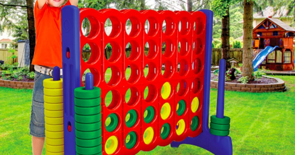 Giantville Giant 4 In a Row Connect Game in backyard