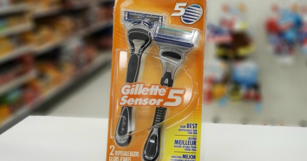 Gillette disposable razors at the store