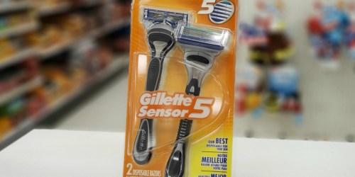 Gillette Sensor 5 Men's Disposable Razors 2-Pack Only $2.75 Shipped at Amazon