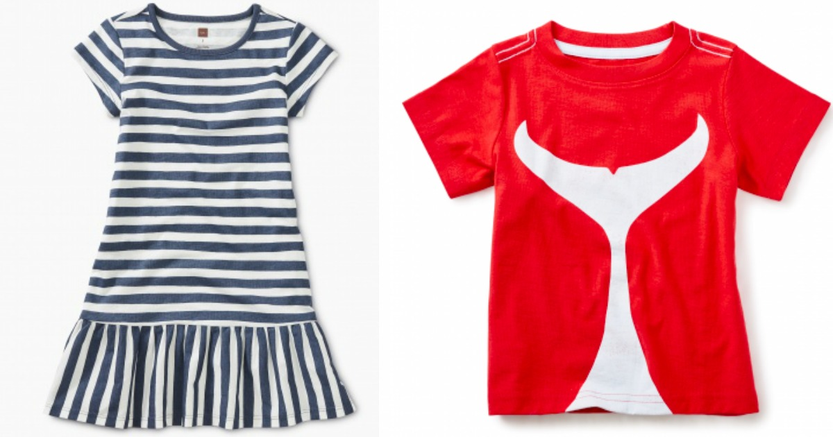 girls dress next to boys t-shirt