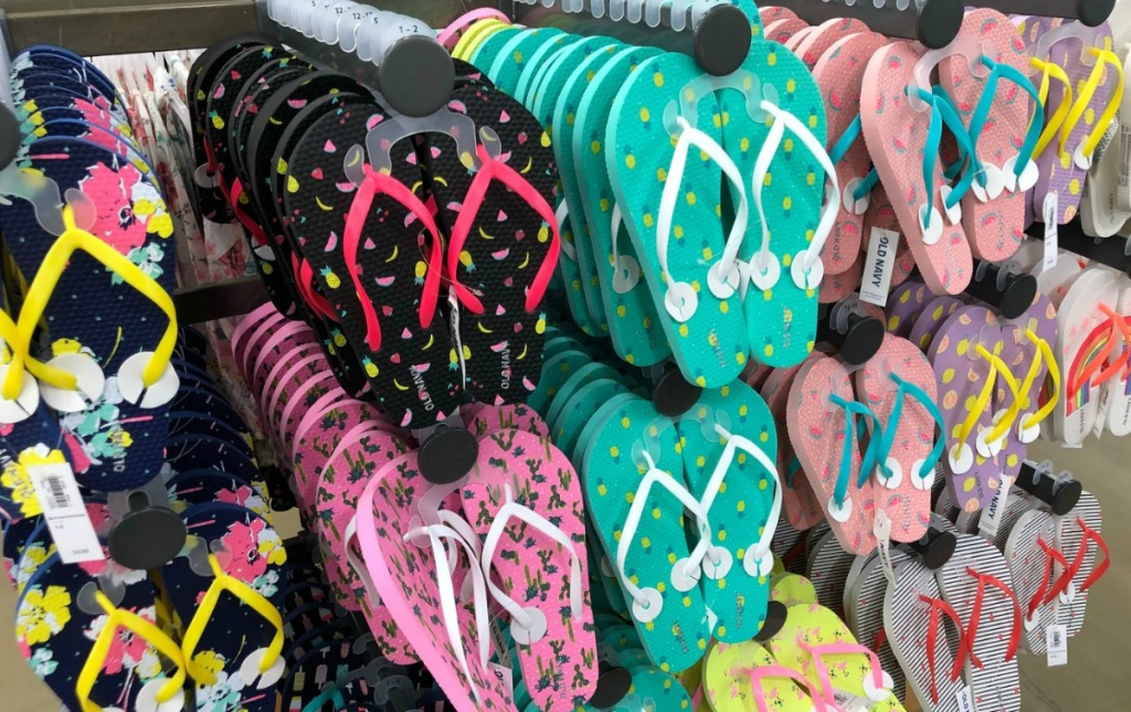 printed flip flops for girls
