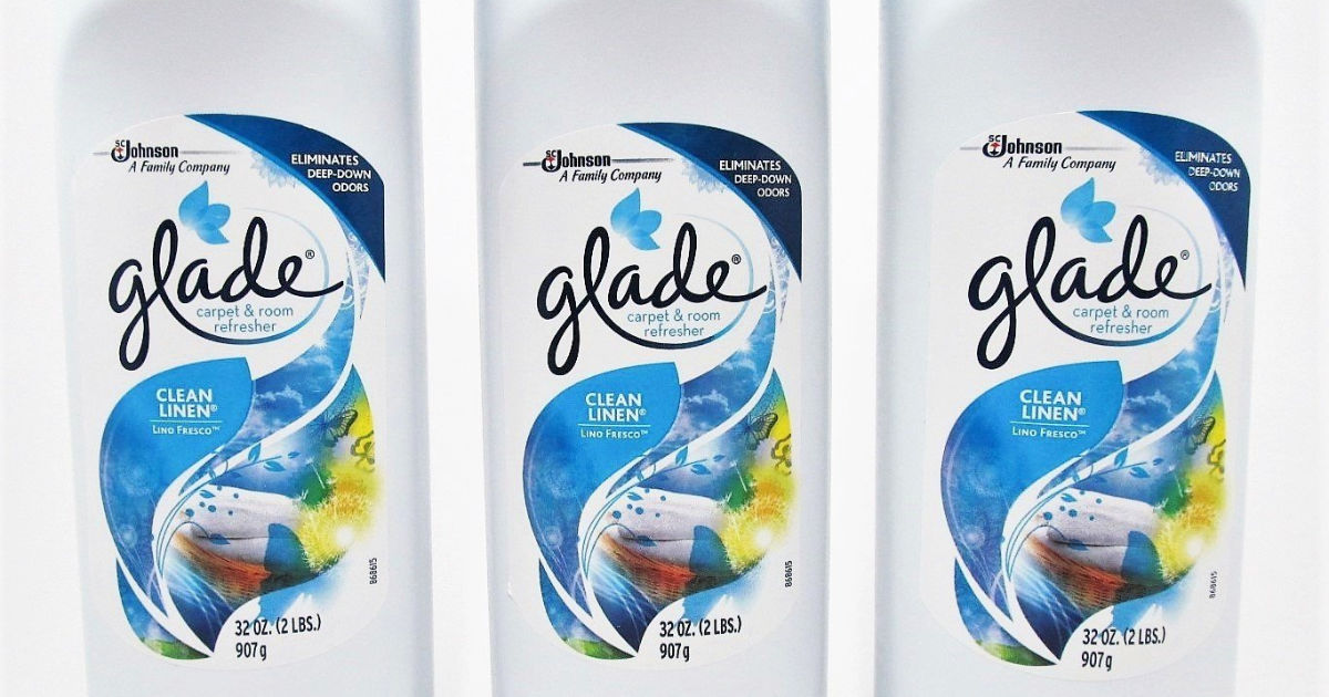 glade clean linen carpet refreshers