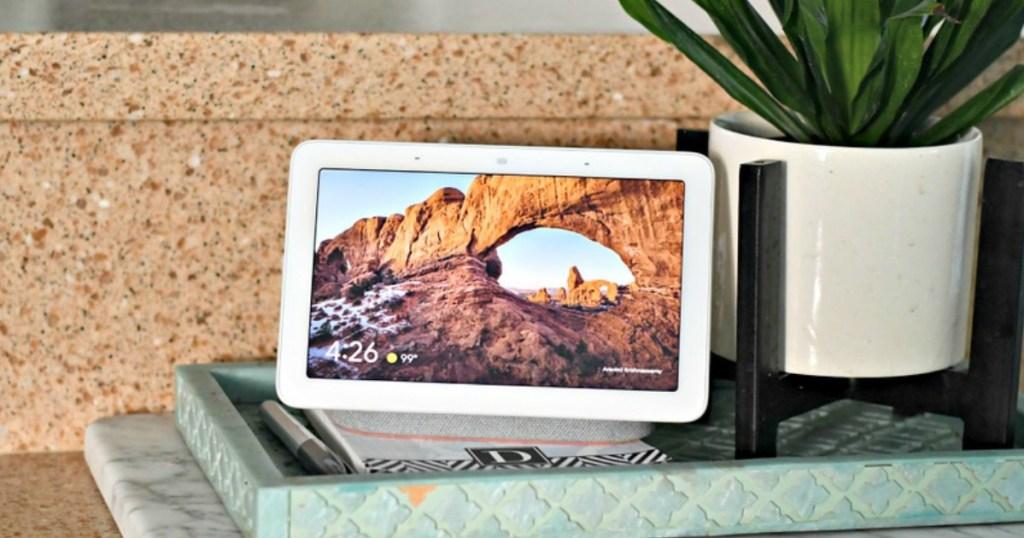 Google Home Hub on counter top
