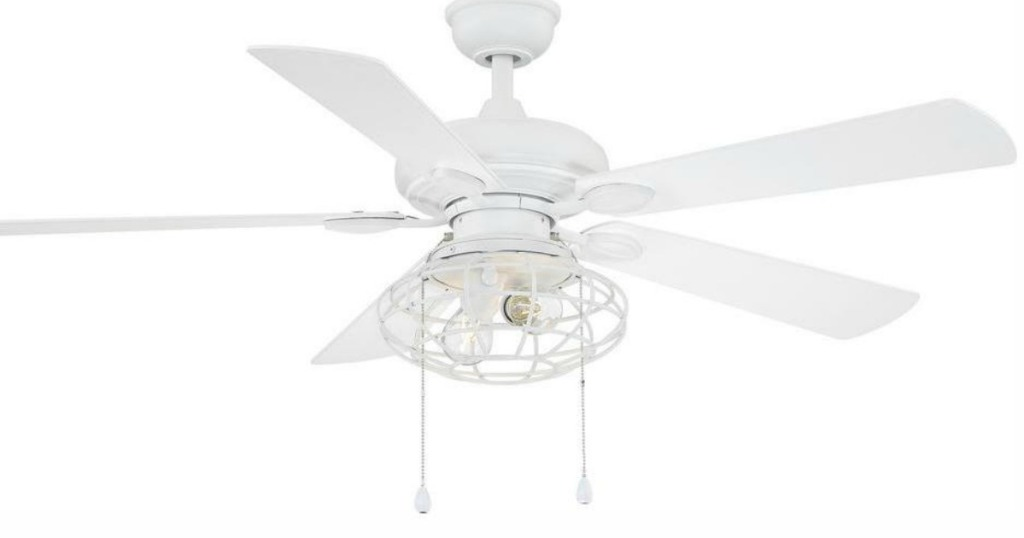 all white ceiling fan