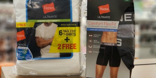 BIG Savings on Hanes Tagless Boxer Briefs & Tees + Free Shipping for Kohl's Cardholders