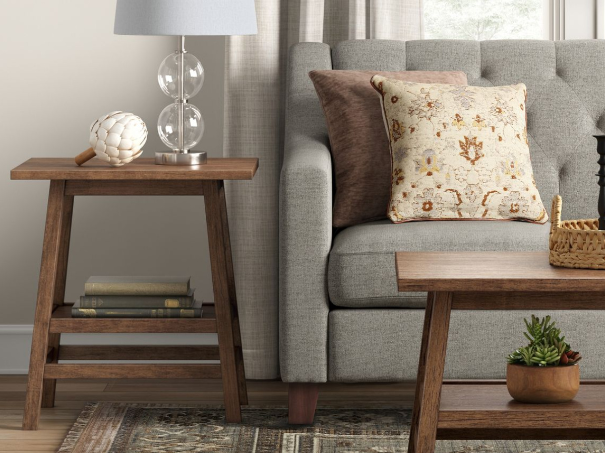 Haverhill Reclaimed End Table Brown