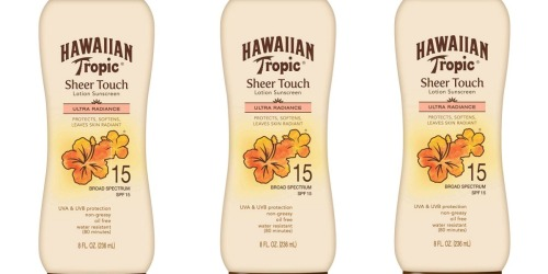 Hawaiian Tropic Lotion Sunscreen Just $4.89 Shipped at Amazon (Regularly $7)