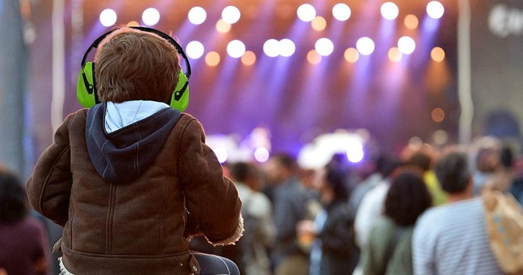 kid wearing earmuffs