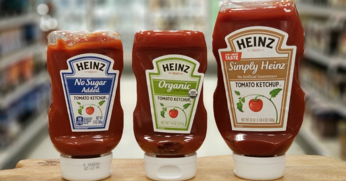 Rare $1/1 Heinz Simply Tomato, Organic, No Salt Added, or No Sugar Added Ketchup Coupon