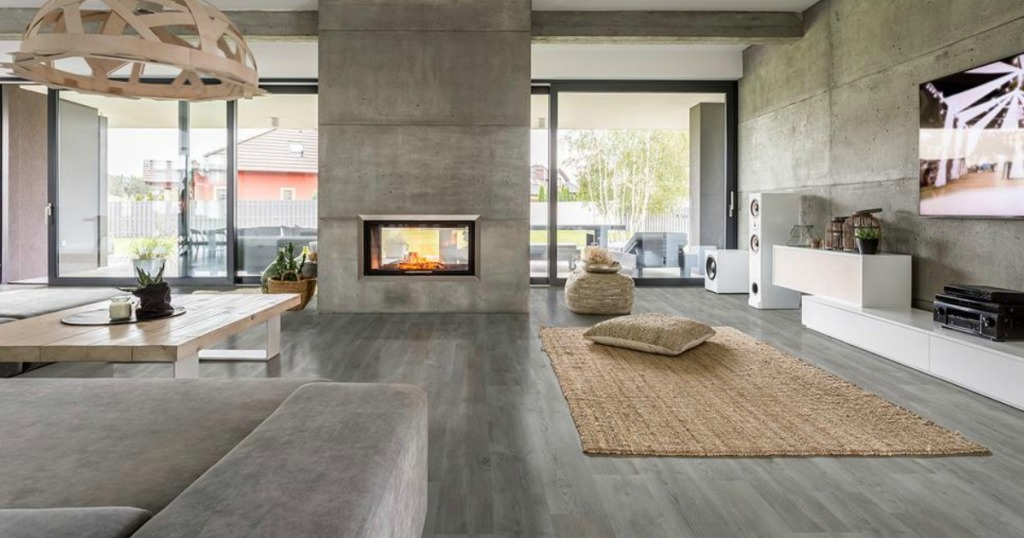 wood flooring in a living room