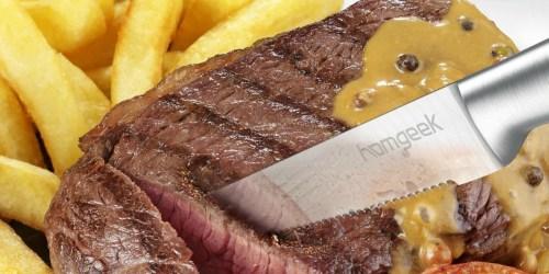 Amazon: Homgeek Steak Knives 6-Pack Only $13.99