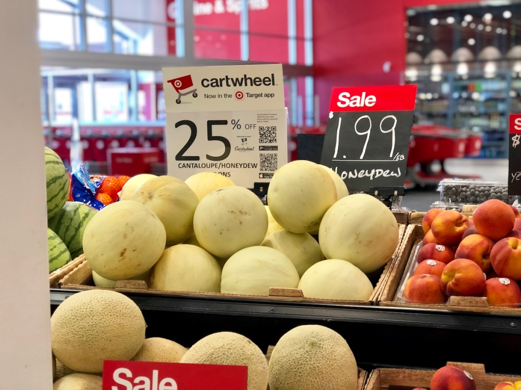 honeydew melon in produce section at target
