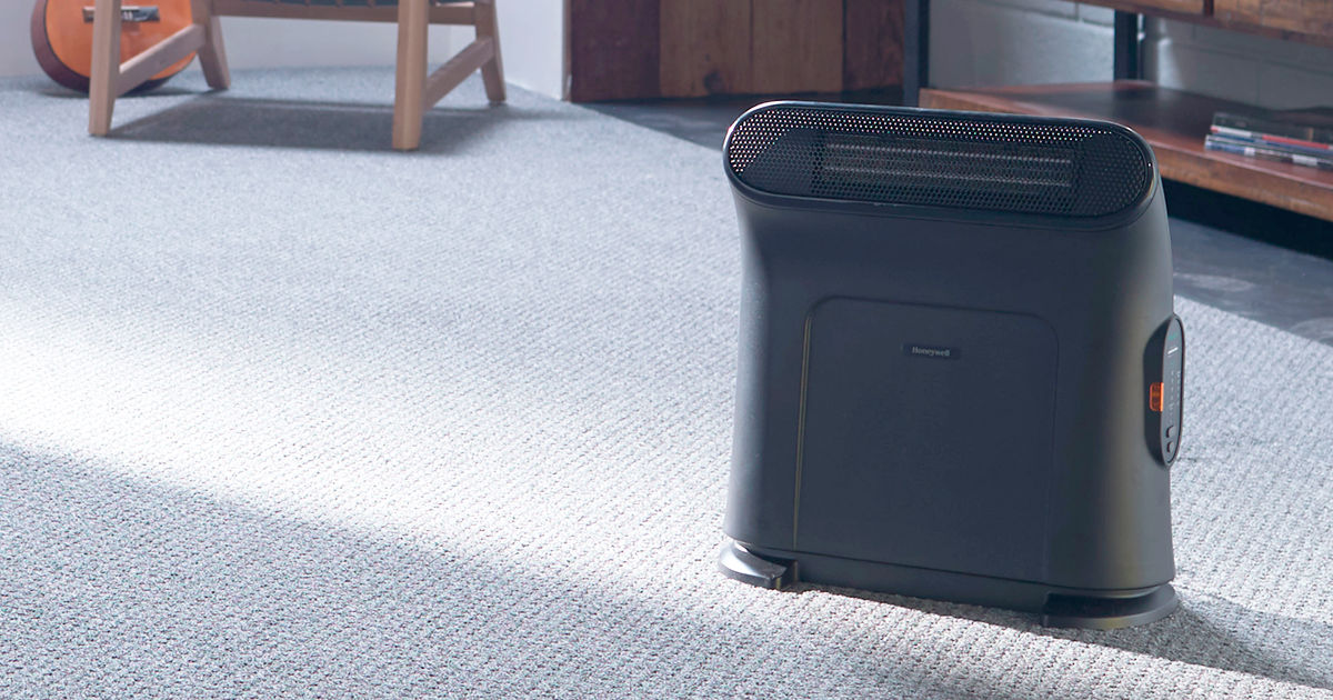 Honeywell Thermawave Electric Heater in living room