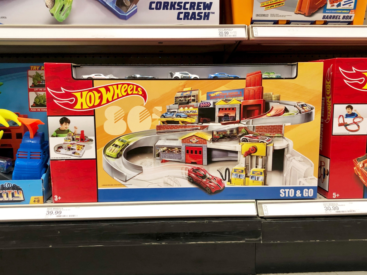 Hot Wheels Set on the shelf at Target