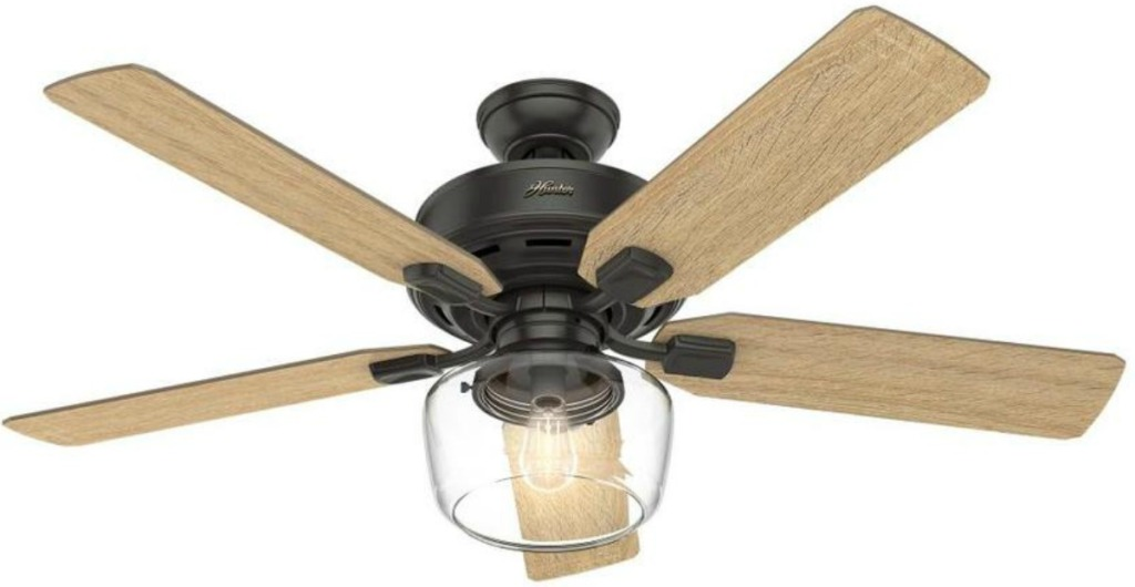 Ceiling fan with five blades