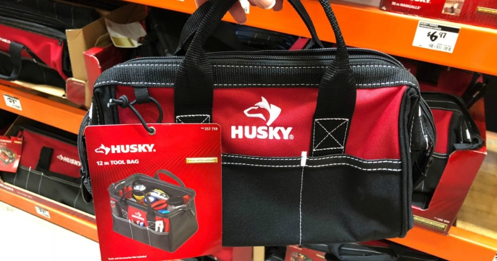 Red And Black Tool Bag With Tag