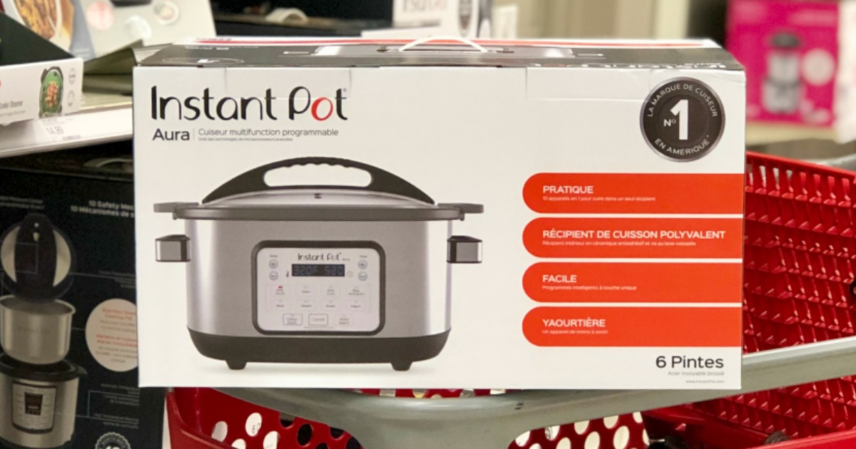 e9c699c78004 Instant Pot Aura 6-Quart Multi Cooker as Low as $41.97 (Regularly $130) at  Target