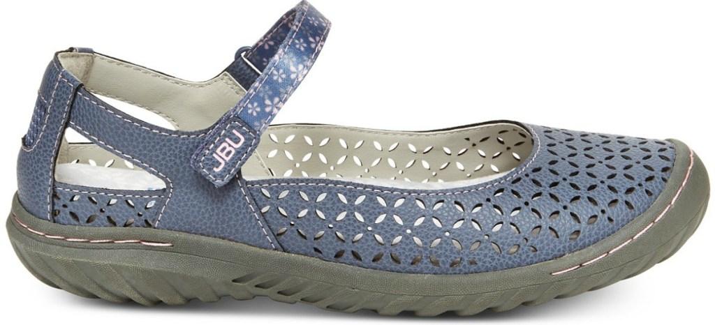 blue bamboo sandals in denim