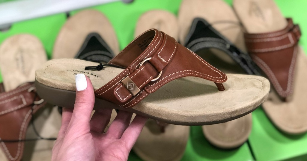 Brown sandals at JCPenney