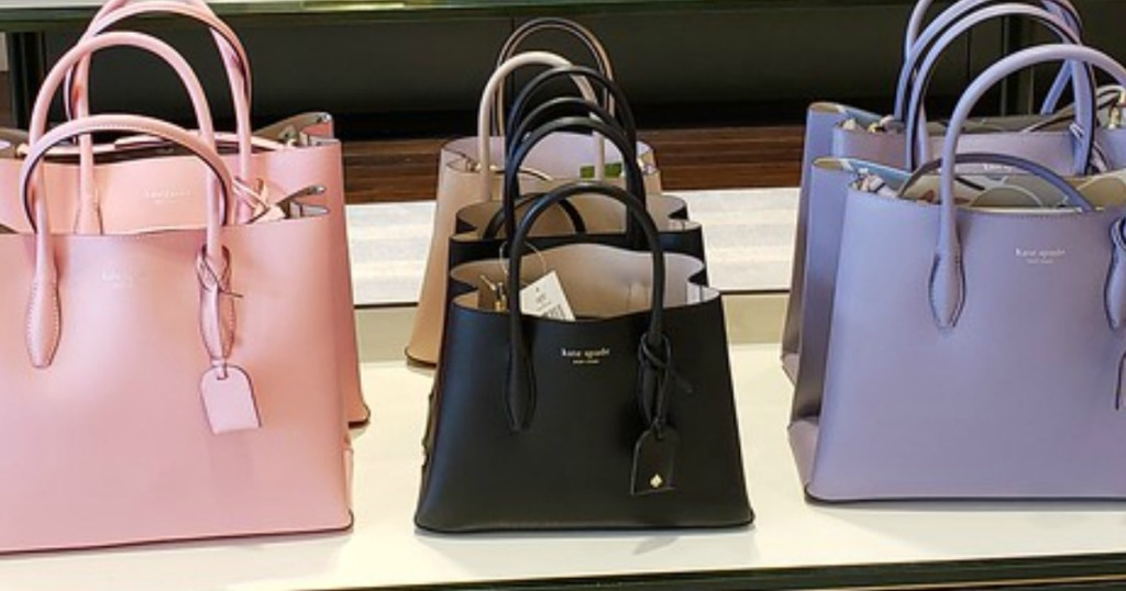 Kate Spade Eva Small Satchel with two other satchels in the store