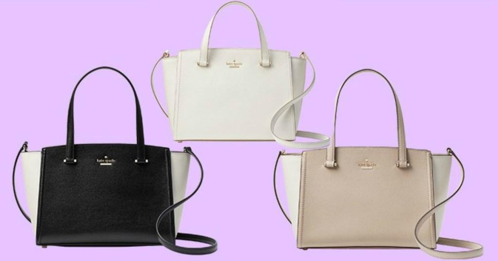 Three Kate Spade satchels