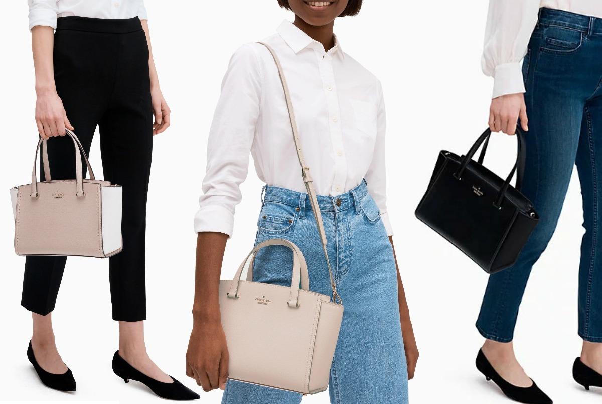 ladies carrying Kate Spade satchels!