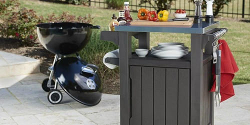 Keter Unity BBQ Storage Table Only $95.99 Shipped at Amazon (Regularly $160) & More