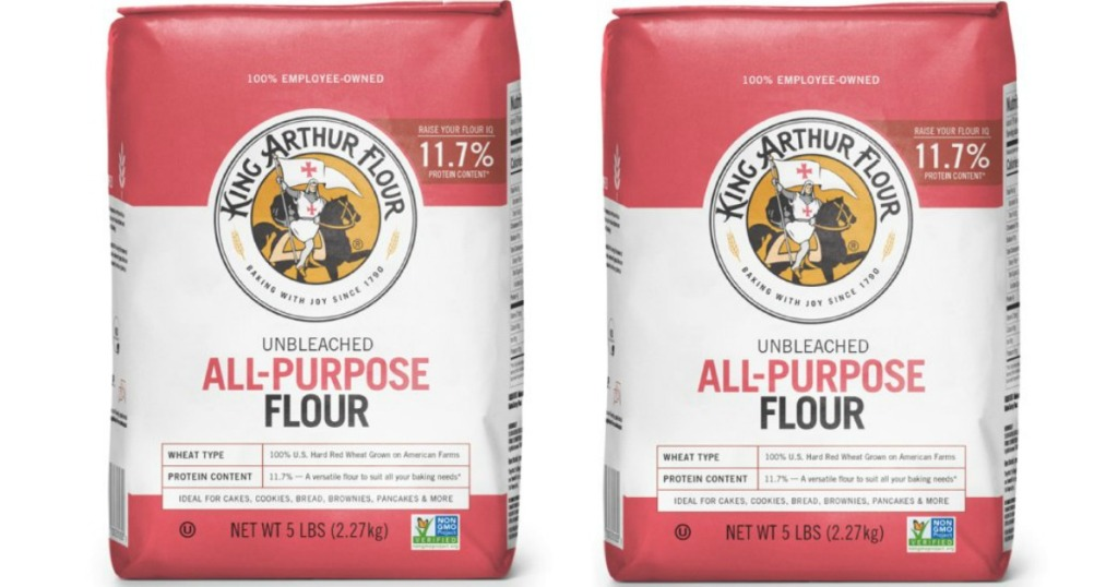 2 bags of King Arthur Flour unbleached all-purpose flour