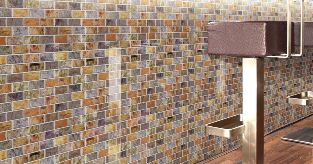 peel & stick kitchen backsplash tile