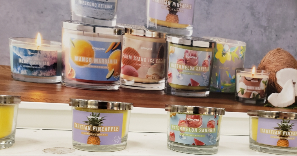 Sonoma 3 wick candles at Kohls