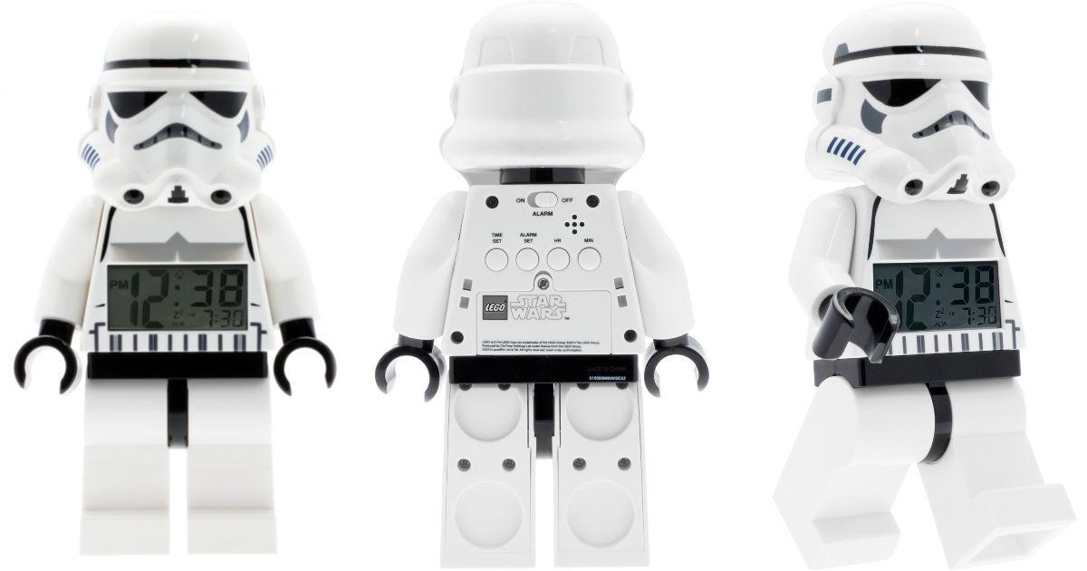 lego storm troopers white minifigure alarm clock