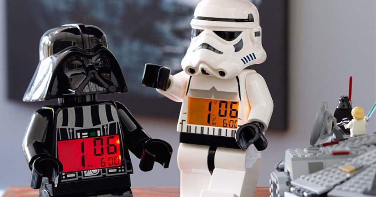 lego storm troopers white and black clocks