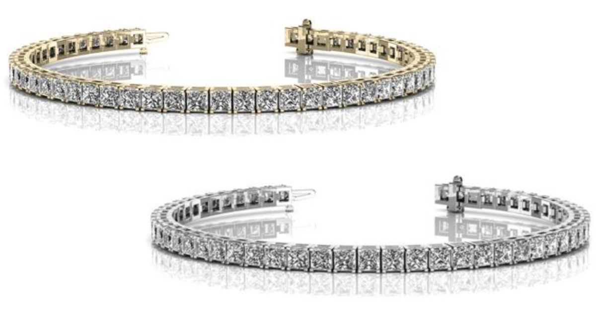 cate & chloe 18k gold plated tennis bracelet