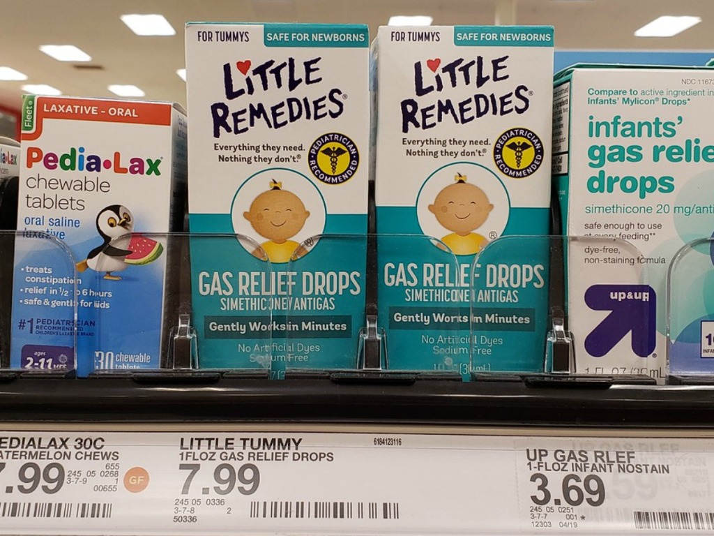 little remedies gas relief drops on Target shelf