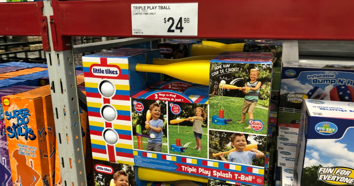 Little Tikes 3-in-1 Triple Splash T-ball Set with 3 Balls at Sam's Club