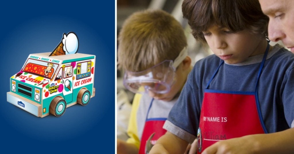 Wooden Ice Cream Truck from Lowes Build & Grow Event