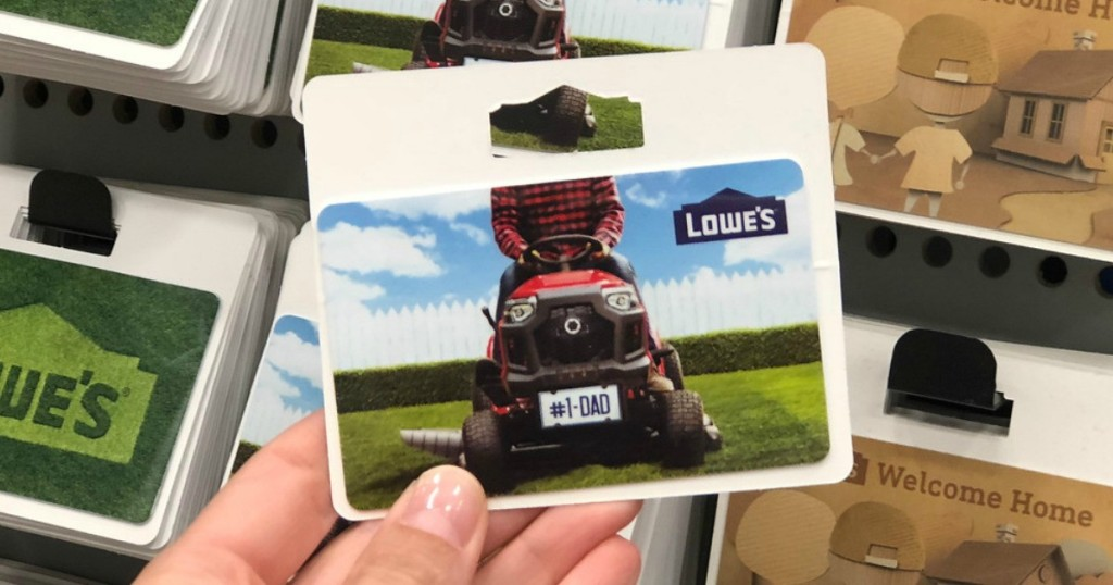 Lowes Gift Card with Dad