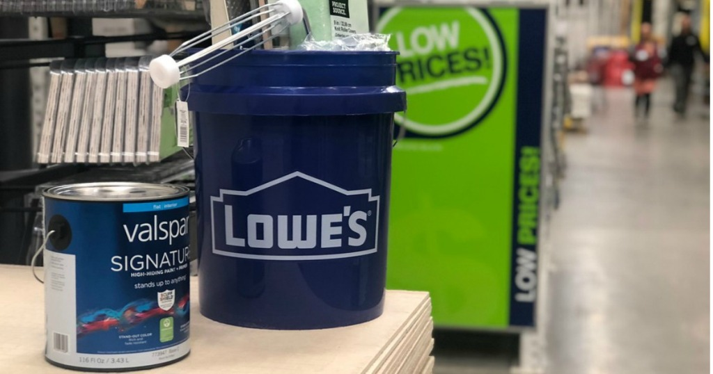 Lowe's Paint can and bucket