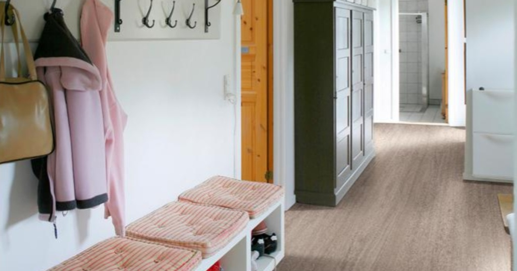 Entry way with MSI Centennial Washed Elm flooring