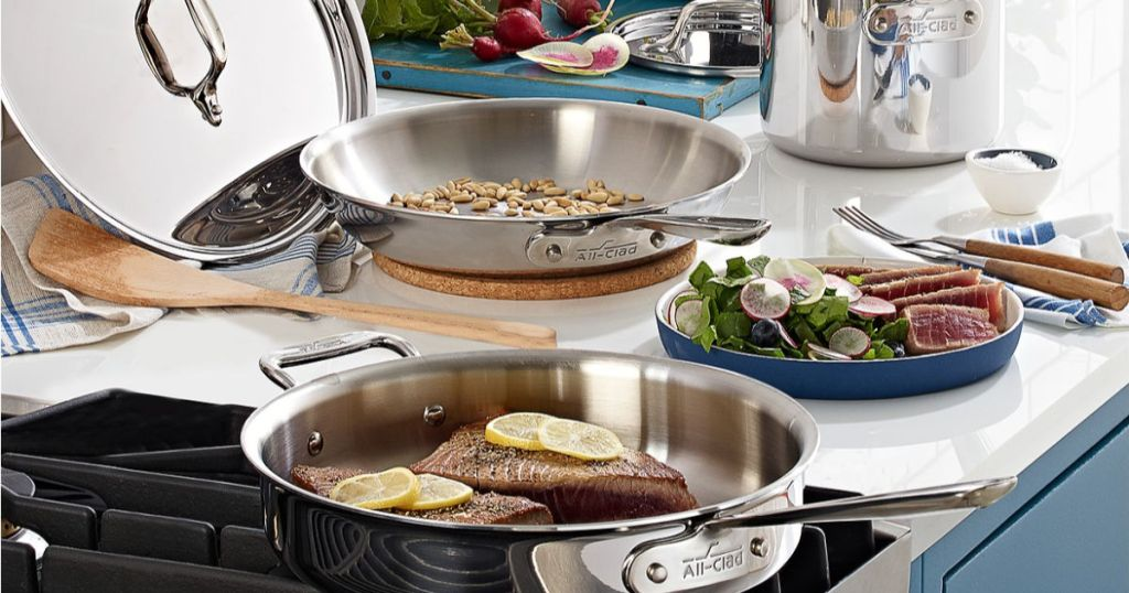 All Clad 7 Piece Cookware Set Only 299 99 Shipped
