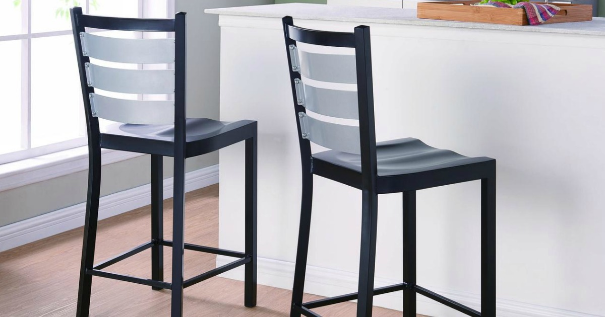 stools at kitchen counter